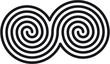 Celtic double spirals (keltische Doppelspiralen)