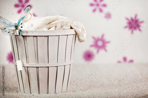 Photo-illustration of a wicker basket
