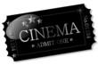 Ticket - Cinema Silber auf Schwarz