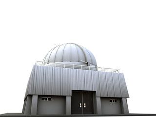 observatory isolated on white background