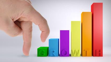fingers climbing growth chart