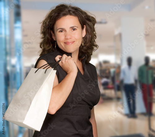 Brunette at the mall