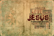 Religious Words on Grunge Background