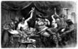 Leinwanddruck Bild - Antique Rome - Orgy, Bacchanalia - Messaline