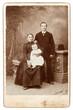 old family photo. vintage background