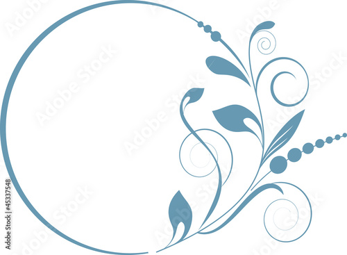 decorative oval frame for design