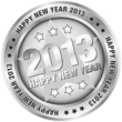 "Button ""2013 - Happy New Year"" Silver"