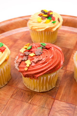 Cupcakes in autumn