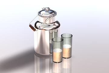 Milchkanne Glas 1