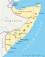 Somalië kaart (Somalië Landkarte)