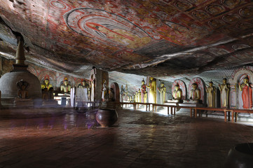 Rock temple in Dambulla, Sri Lanka
