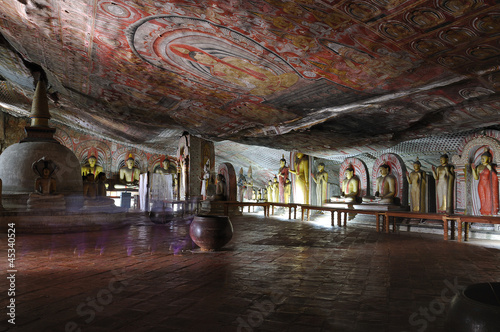 Rock temple in Dambulla, Sri Lanka