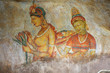 Famous wall paintings on Sigiriya. Sri Lanka