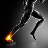 Fototapety Sports ankle and achilles heel injury concept