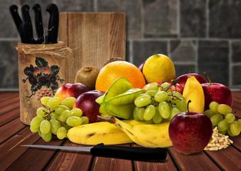 Obst, Obstsalat, gesunde Ernährung,