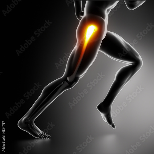 Sports hip injury koncept