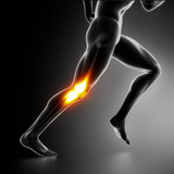 Fototapety Sports Knee pain concept