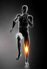Knee Pain Knee Injuries concept
