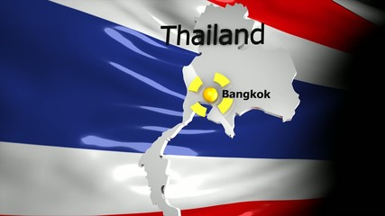 Crisis location map series, Thailand.