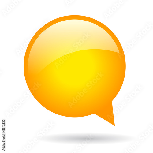 Round vector speech bubble