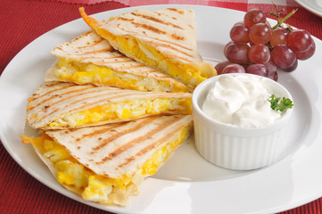 Egg and cheese quesadilla
