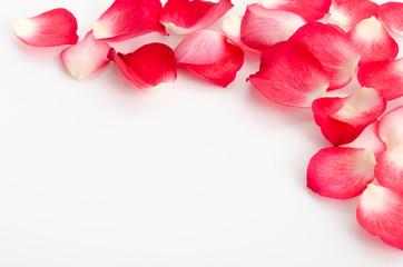 Rosenblütenblätter-Rahmen