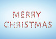 Santas formen Schrift Merry Christmas