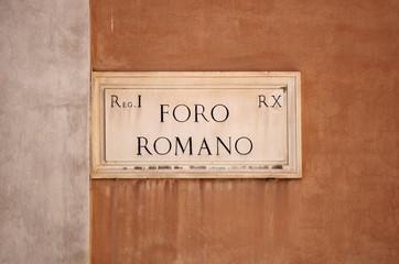 Roman Forum street sign