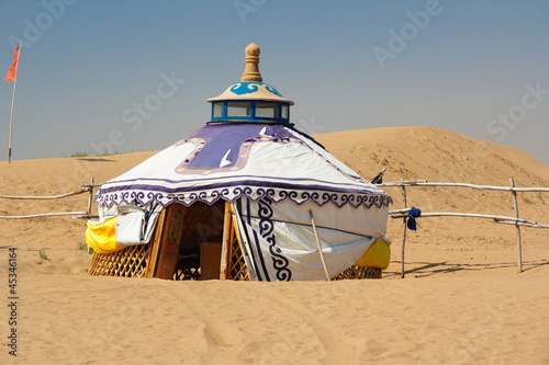 Mongolian Yurt in the Gobi Desert