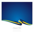 Abstract color background Swedish flag vector