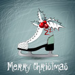 Merry Christmas white skates
