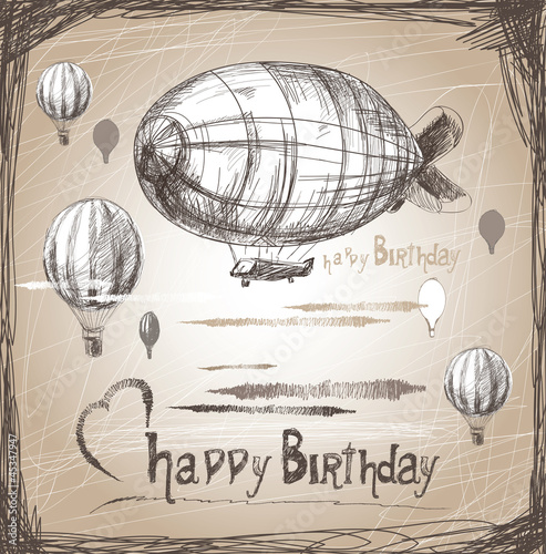 Happy Birthday airship