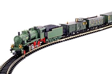 Dampflok mit Wagons