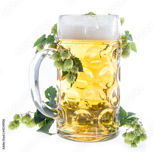 Mug of Beer on white