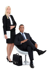 man and woman executives