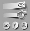 vector thumb up, email, information, user stickers