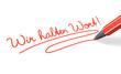 Stift- & Schriftserie: Wir halten Wort! rot