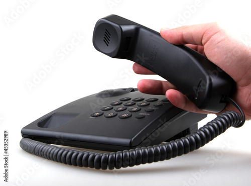telephone isolated over white background.