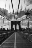 Fototapety Pont de Brooklyn noir et blanc - New-York