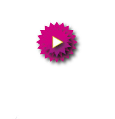pink zigzag play button