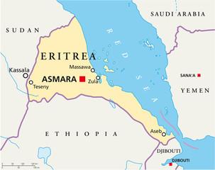 Eritrea map (Eritrea Landkarte)