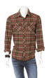 cotton plaid shirt on male mannequin on white background