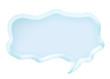 light blue speech bubble