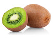 Ripe kiwi fruit with half