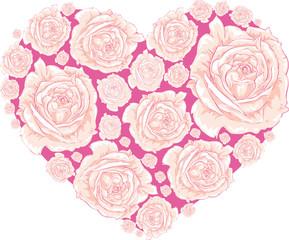 Сердце любви из роз
