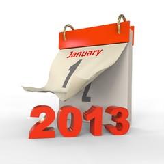 Calendario 2013 Rojo