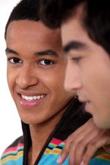 closeup portrait of black student