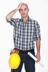 Shocked bold builder