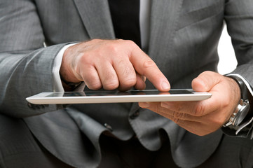 Business with digital tablet