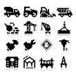 Heavy construction icons